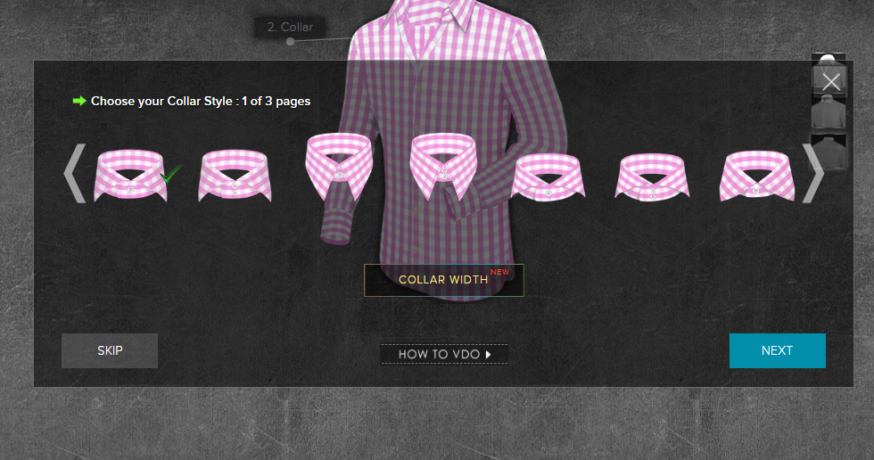 Men's Custom Dress Shirts - Collars