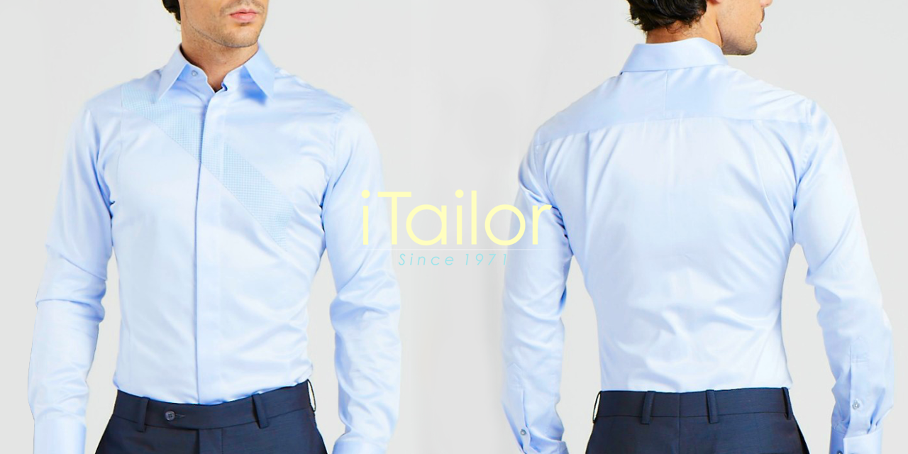 Men's Custom Dress Shirts - iTailor light blue