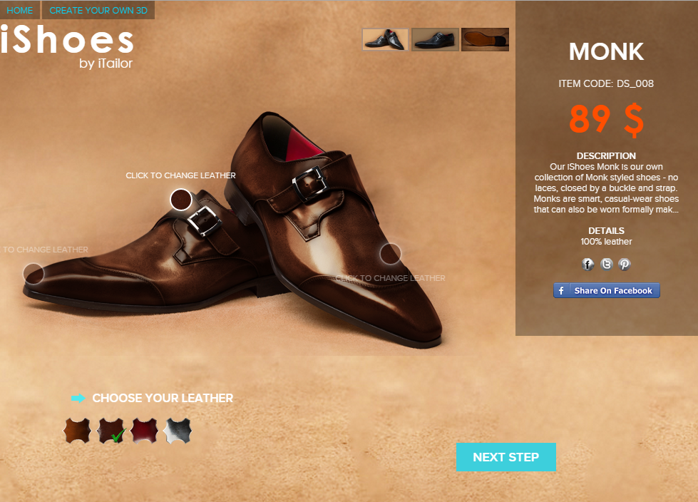 custom made shoes - burnished monk straps