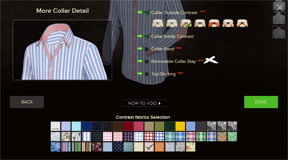 Custom Shirts Pro - Collar Details
