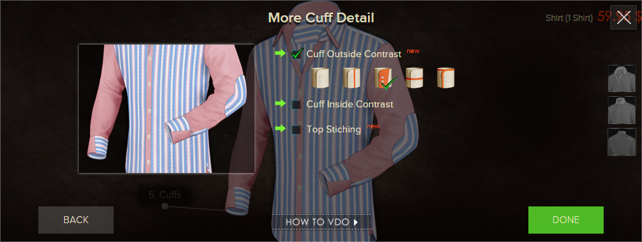 Choose Your Contrasting Cuff Fabric