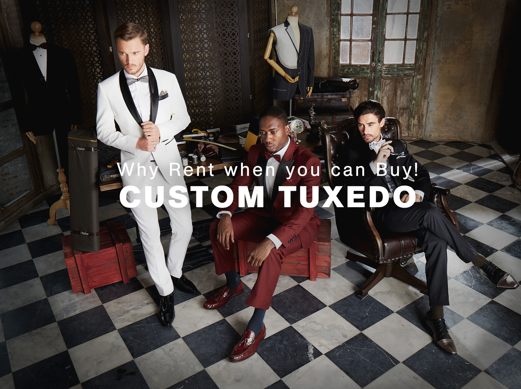 Custom Tuxedos for $179. Why Rent when you can Buy!