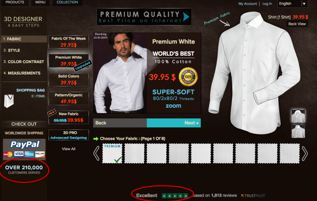 White Shirt Designer