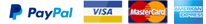 paypal visa mastercard