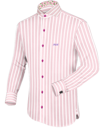 Round Collar Dress Shirts Men