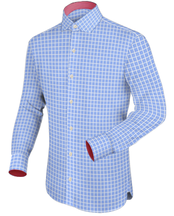 Black Mens Shirts with Modern Collar