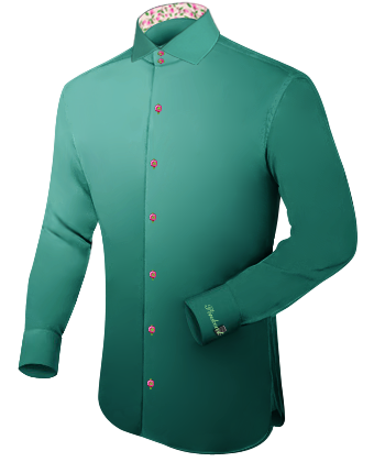 Cheap Tailor Fitted Shirts For Men with Italian Collar 2 Button