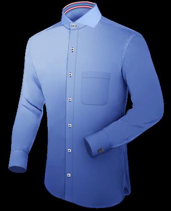 Custom Made Shirts San Antonio with Cut Away 1 Button