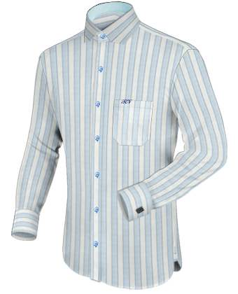 custom monogrammed mens dress shirts with modern collar
