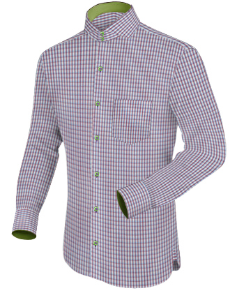 Mens Custom Shirts Hong Kong with Cut Away 2 Button