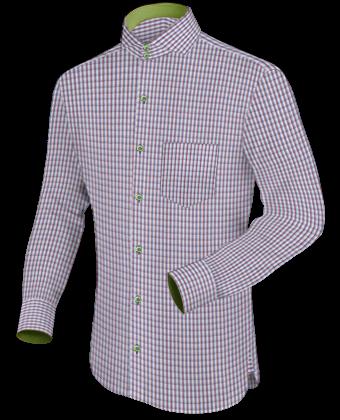 Mens Custom Shirts Hong Kong with Cut Away 2 Button