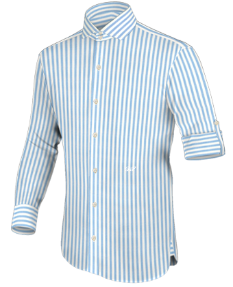 18 Inch Neck Shirts with Italian Collar 2 Button