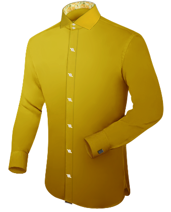 Dress Shirts For Men 19 Inch Collar with Italian Collar 2 Button