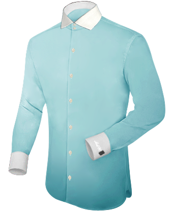 Mens Casual Short Sleeve Shirts with Italian Collar 2 Button