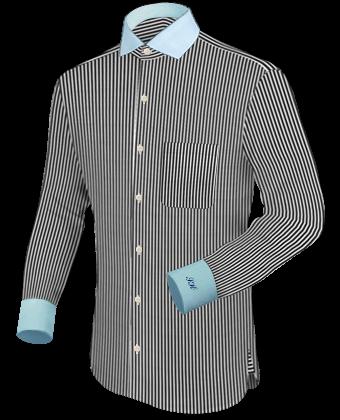 Round collar mens dress shirts for Round collar shirt men