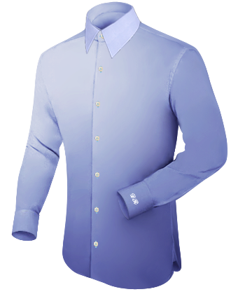 Wing Collar Slimt Fit Shirt with French Collar 1 Button