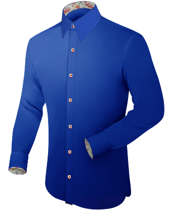 Wing Collard Dress Shirts with French Collar 1 Button