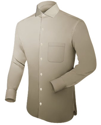 Wing Collared Shirt with Italian Collar 1 Button