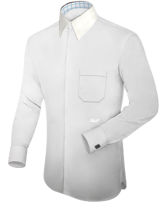 Winged Shirts with French Collar 2 Button