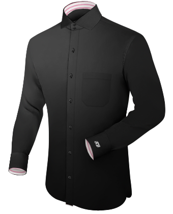 Work Shirts For Men with Italian Collar 2 Button
