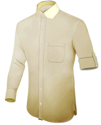 X Small Slim Fit Shirts with Modern Collar