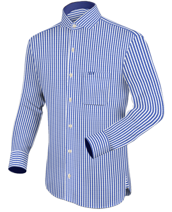 Xs Mens Shirt with Italian Collar 1 Button