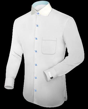 Yellow Long Sleeve Shirt with English Collar