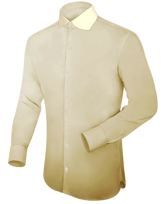 Youth Gold Dress Shirt with English Collar