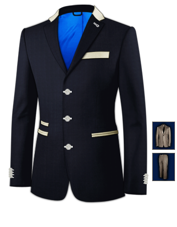 Wedding Suits with 3 Buttons, Single Breasted