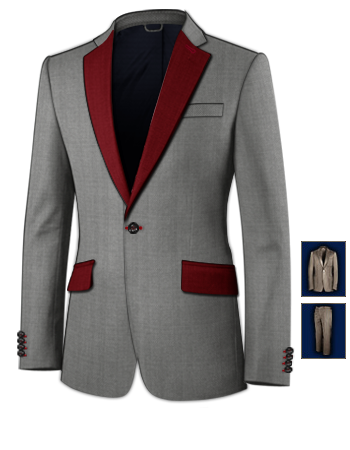 Replica mens suits with 1 button single breasted
