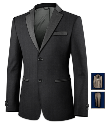 Summer Tweed Suit For Men with 2 Buttons, Single Breasted