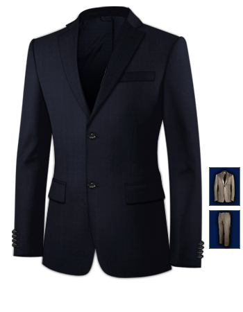 Mens Black Wedding Suits with 2 Buttons, Single Breasted