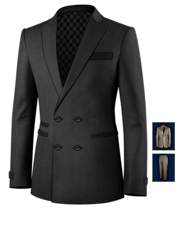 Tailors Cambridge with 4 Buttons,double Breasted (2 To Close)