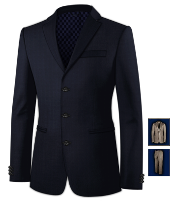 Cheap Suits For Men with 3 Buttons, Single Breasted