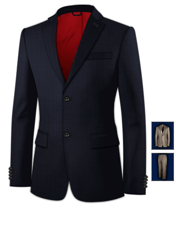 Cheap Tailored Suits with 2 Buttons, Single Breasted