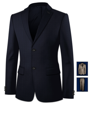 Mens Suits with 2 Buttons, Single Breasted