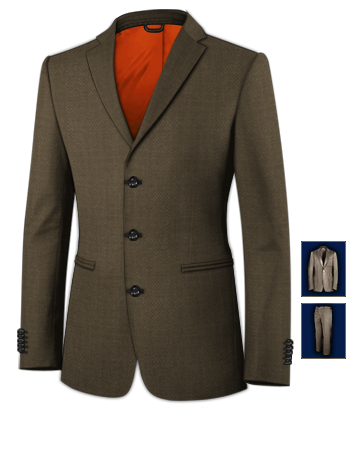 Mens Suits Suits And Tailoring with 3 Buttons, Single Breasted