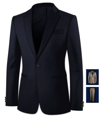 Tailor Made Suits with 1 Button, Single Breasted