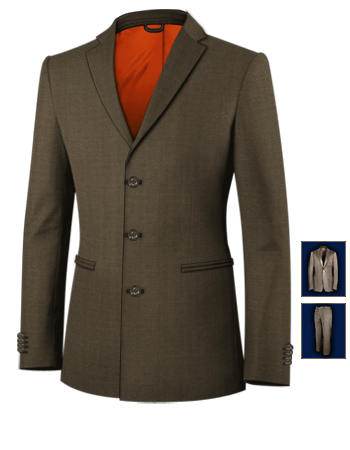 Tailored Suits Online with 3 Buttons, Single Breasted