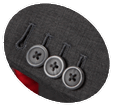Contrasting Buttons Button-holes